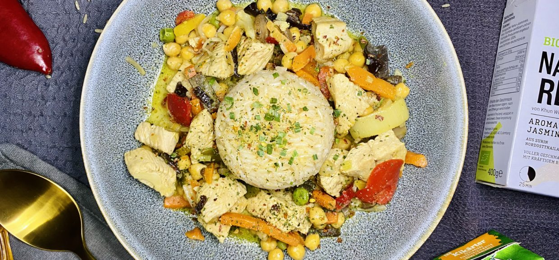 Asiapfanne mit Reis