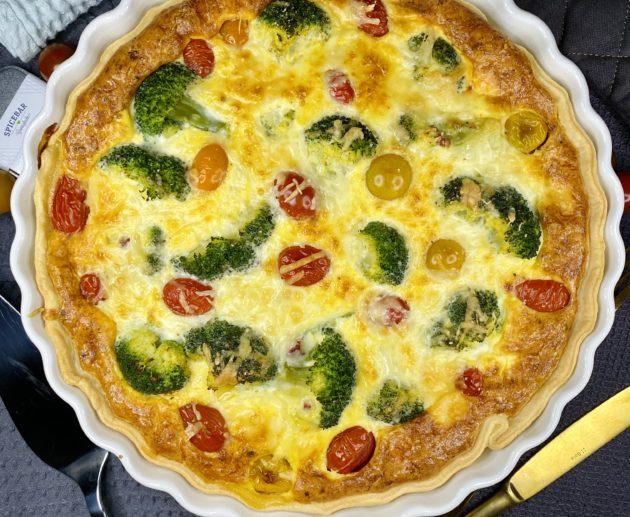 Brokkoli Tomaten Quiche